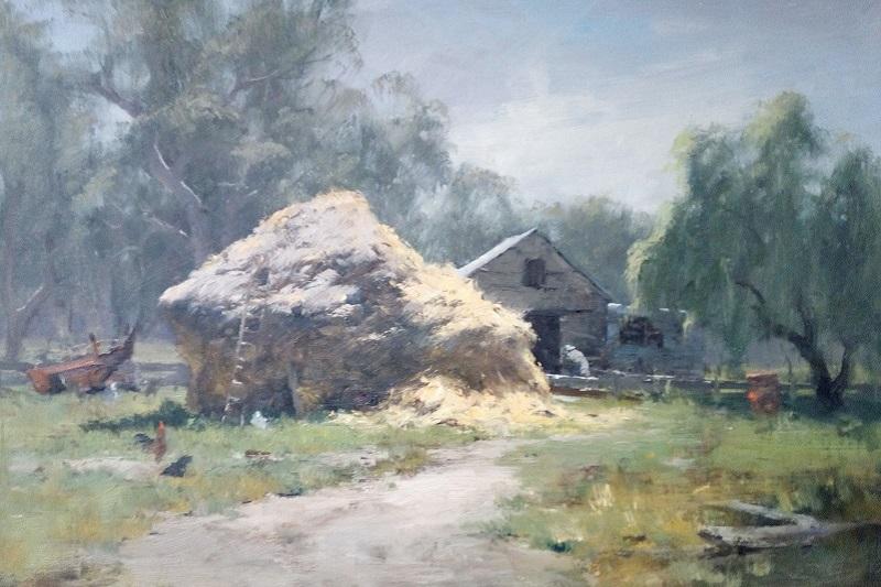 Hay Stack Chandlers Farm Barmah (45x30cm)