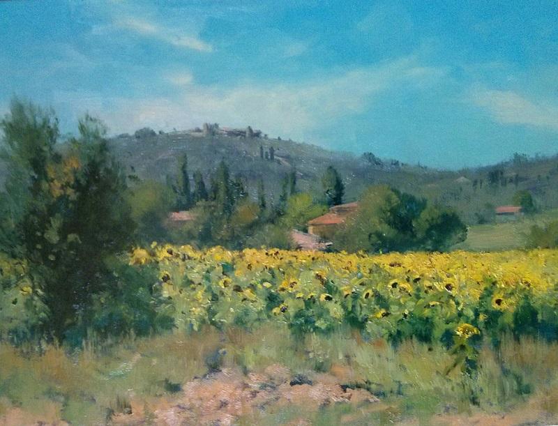 Sunflowers Tuscany (40x30cm)
