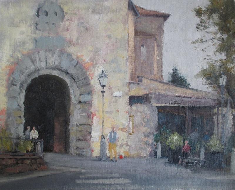 Lucignano Entrance (30x25cm)