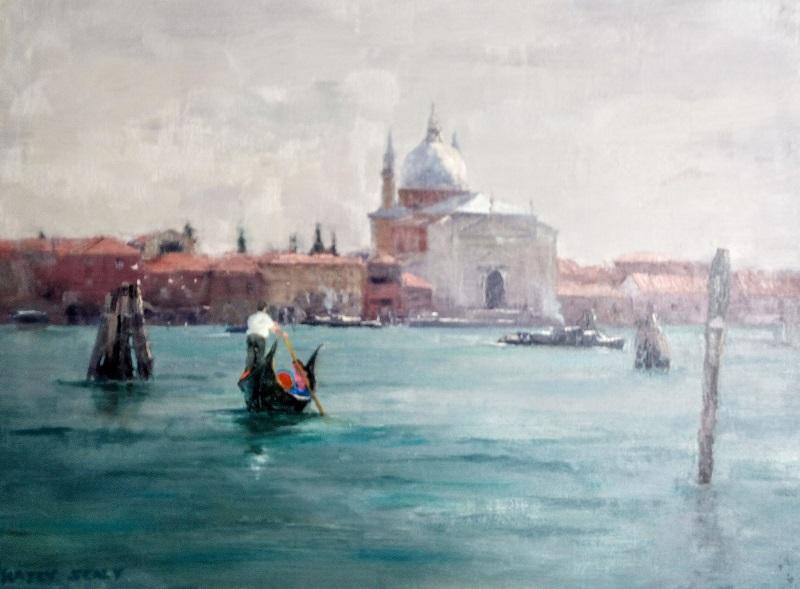 Soft Grey Venice (38x30cm)