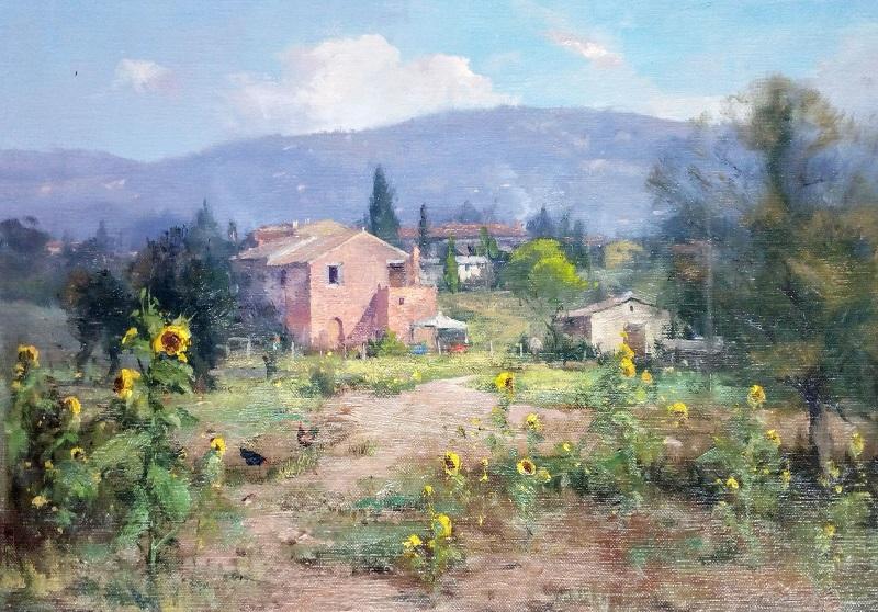Tuscan Village (38x30cm)