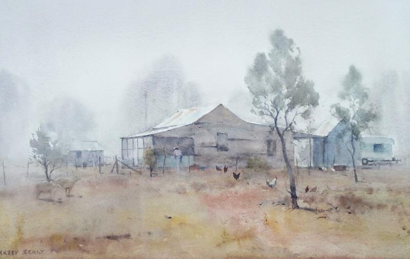Foggy Morn Tilpa (51x36cm) wc