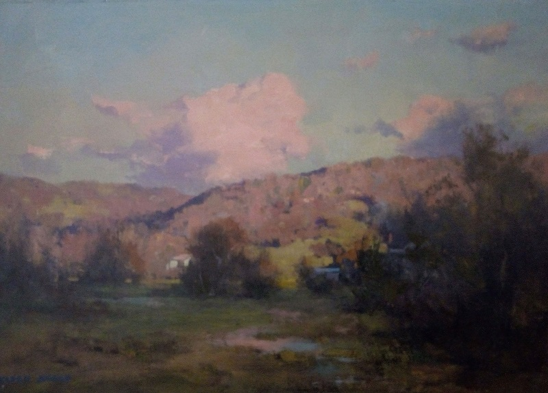 Evening Light Asheville (45x30cm)