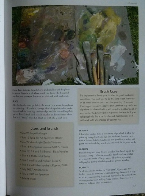 Paint Your Vision In Oils Book - Contents 2