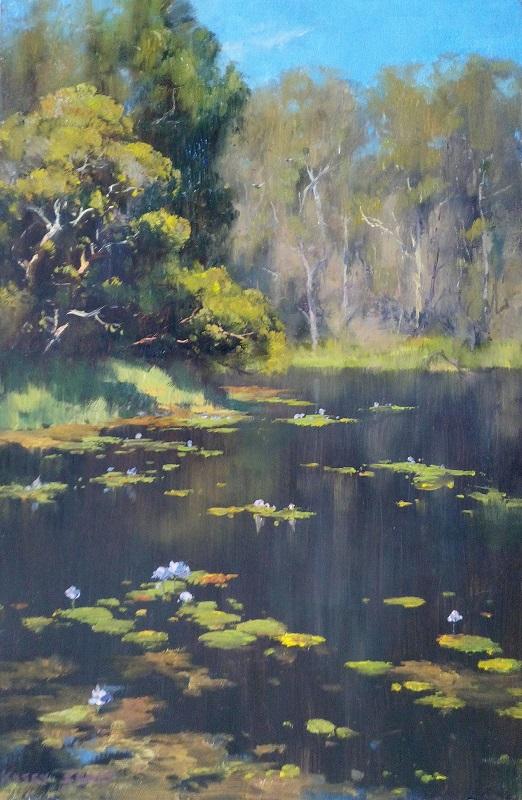Water Lillies, Gladstone (30x45cm)