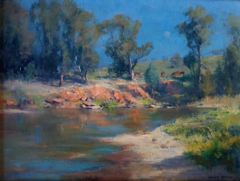 Orange Banks Macquarie River Dubbo (61x45cm)