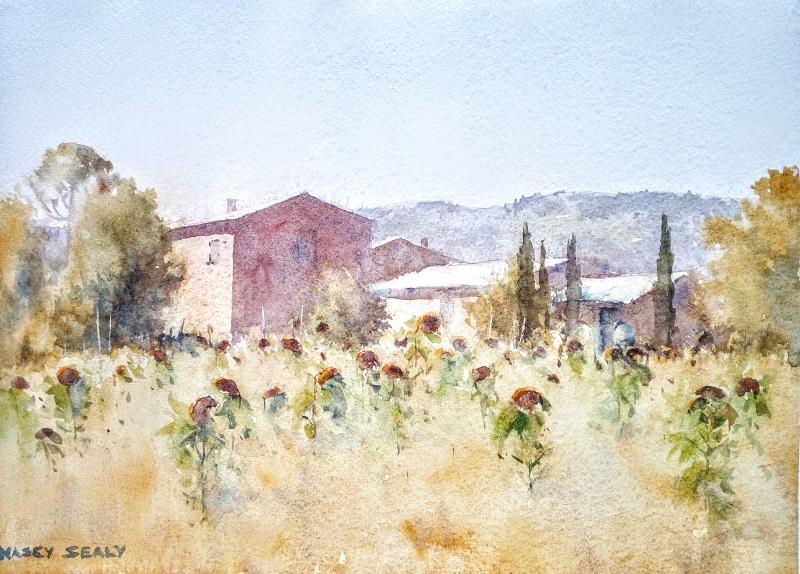 Tuscan Autumn (35x25cm) wc