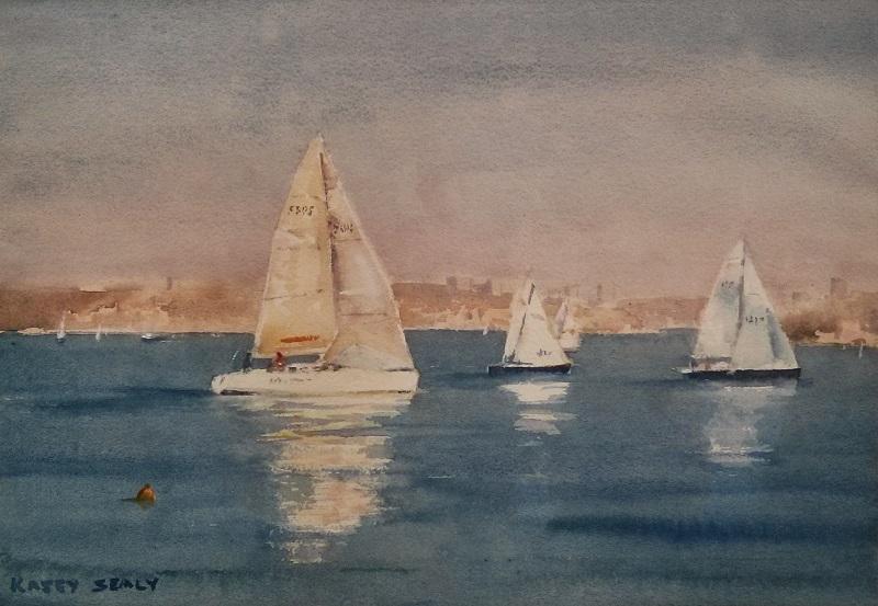 Harbour Yachts Sydney (40x30cm) wc
