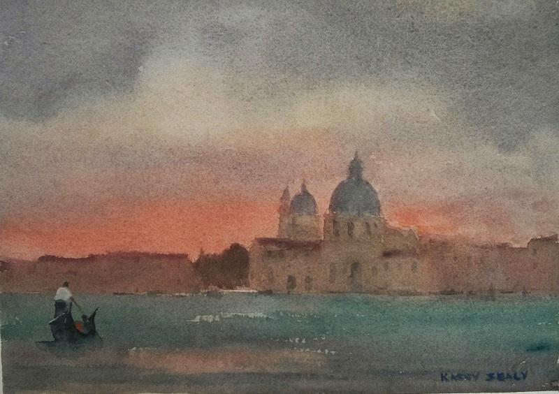 Venice Last Night (30x26cm) wc