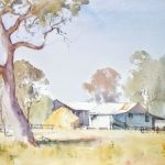 Country Farm, Victoria (41x30cm) wc